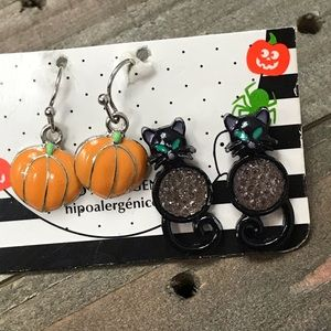 3 for $8 hypoallergenic Halloween earrings
